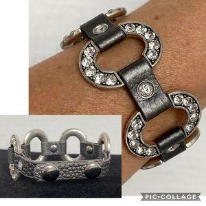 Juicy Couture Silver Rhinestone Strap bracelet